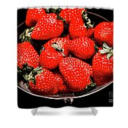 Strawberry Cocktail Shower Curtain