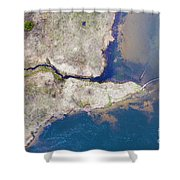 Stream Along Manistee River Aerial Shower Curtain