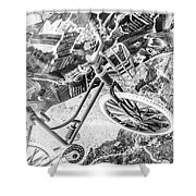 Street Cycles Shower Curtain