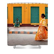 Street Palette Shower Curtain