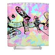 Street Sk8 Pop Art Shower Curtain