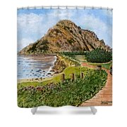 Strolling To The Rock Shower Curtain