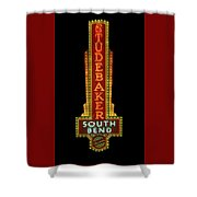 Studebaker Neon Sign Shower Curtain by Susan Rissi Tregoning