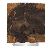 Study For The Head Of Christ In A Crucifixion Shower Curtain