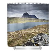 Suilven On A Stormy Day Shower Curtain