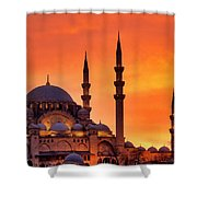 Suleymaniye Mosque At Sunset Shower Curtain