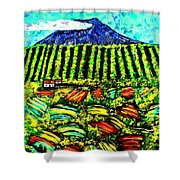 Sumatra Coffee Plantation Shower Curtain