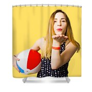 Summer And Beach Love Shower Curtain