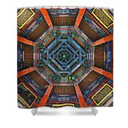 Summer Palace Ceiling Shower Curtain