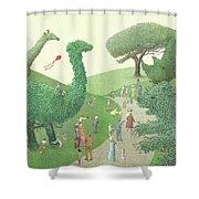Summer Park Shower Curtain