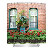 Summer Street Garden Shower Curtain