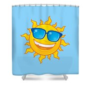 Summer Sun Wearing Sunglasses Shower Curtain