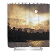 Sun Behind The Clouds Shower Curtain