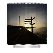 Sun Rise Sign Shower Curtain