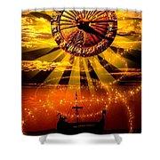 Sundial Shower Curtain