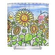 Sunflower Gods Shower Curtain