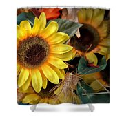 Sunflower Harvest Shower Curtain