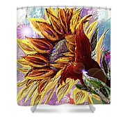 Sunflower In The Sun Shower Curtain by Darren Cannell