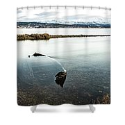 Sunken Boat Shower Curtain