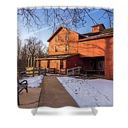 Sunny Winter Day At Bonneyville Mill Shower Curtain