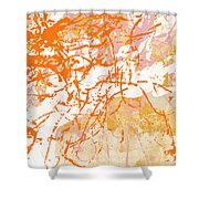 Sunrise 2- Abstract Art By Linda Woods Shower Curtain