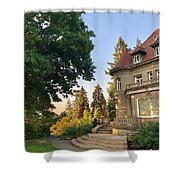 Sunrise At The Mansion Shower Curtain