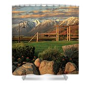 Sunrise In Carson Valley Shower Curtain