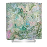 Sunrise In The Garden Shower Curtain