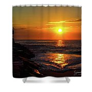 Sunrise Over Indian River Inlet Shower Curtain
