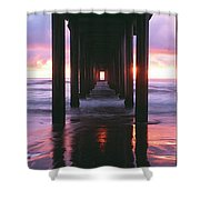 Sunrise Over The Pacific Ocean Seen Shower Curtain
