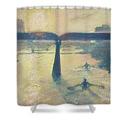 Sunrise Rowers On Lady Bird Lake Austin Shower Curtain