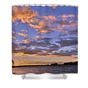 Sunrise Sky Shower Curtain by Lisa Wooten