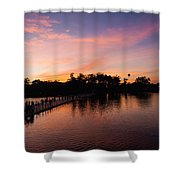 Sunset At Angkor Wat Shower Curtain