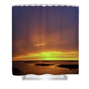 Sunset At Cheyenne Bottoms -02 Shower Curtain by Rob Graham