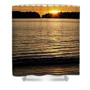 Sunset Beach Vancouver Island 2 Shower Curtain