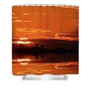 Sunset Behind Clouds Two Shower Curtain