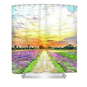 Sunset - Colors Of Nature Shower Curtain