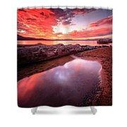 Sunset Harmony At Kiva Beach Shower Curtain