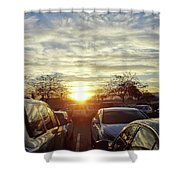 Sunset In Parking Lot 2 Shower Curtain