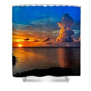 Sunset On Cudjoe Bay 8584 Shower Curtain