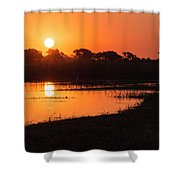 Sunset On The Chobe River Shower Curtain