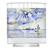 Sunset On The Lagoon, Venice - Digital Remastered Edition Shower Curtain