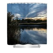 Sunset On The Lake Shower Curtain