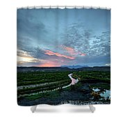 Sunset On The Rio Grande Shower Curtain