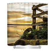 Sunset Over Reva Shower Curtain