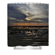 Sunset Over The Rota Corrales Shower Curtain