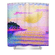 Sunset Over The Sea - Digital Remastered Edition Shower Curtain