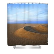 Sunset  Sand Dunes Shower Curtain