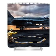 Sunset Shooter Shower Curtain