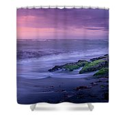 Sunset Surf On The Gulf Of Mexico, Venice, Florida Shower Curtain